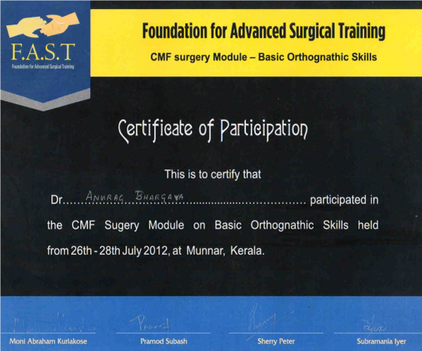 foundation for advanced surgical training- cmf surgery module- basic orthognathic skills
