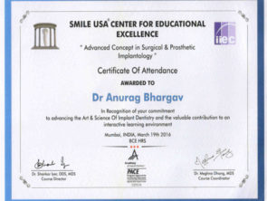 Smile USA center for educational excellence- advanced concept in surgical & prosthetic implantology