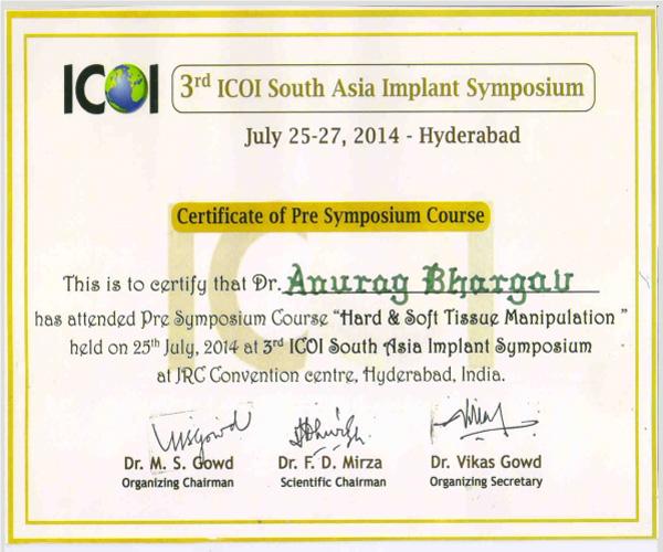 hard & soft tissue manipulation- pre symposium course