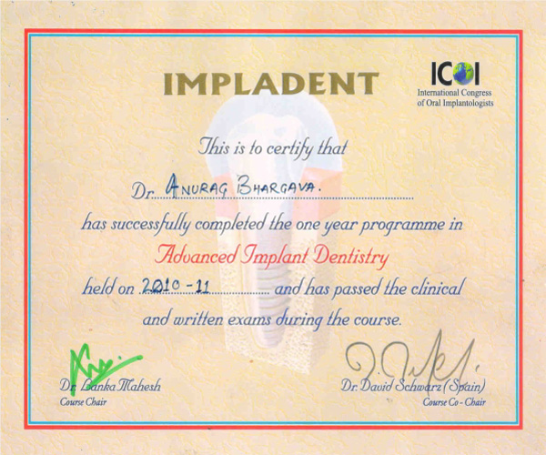 advanced implant dentistry programme