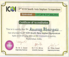 ICOI in Advanced Implantology hyderabad