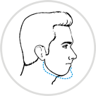 Icon to explain chin surgery- inward outward chin surgery in Indore