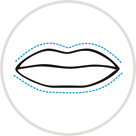 icon for cheiloplasty or lip surgery
