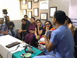doctor explaining about medical instrument